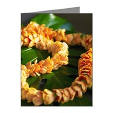 Hawaiian Lantern Ilima flowe Note Cards (Pk of 20)