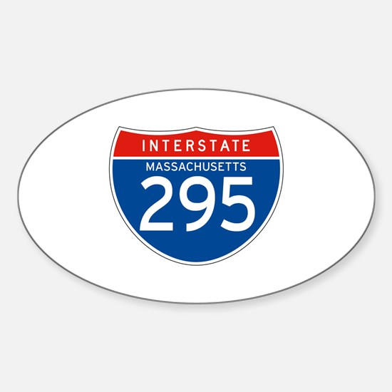 Interstate 295 - MA Oval Decal
