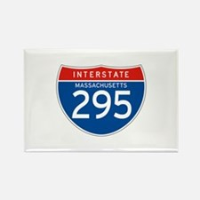 Interstate 295 - MA Rectangle Magnet