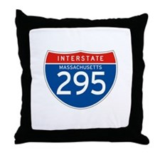 Interstate 295 - MA Throw Pillow