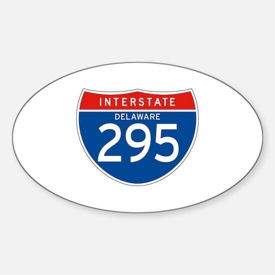 Interstate 295 - DE Oval Decal