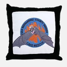 San Bernardino Cave Rescue Throw Pillow
