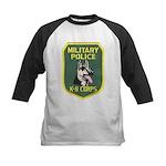 Military Police Canine Kids Baseball Jersey