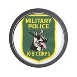 Military Police Canine Wall Clock