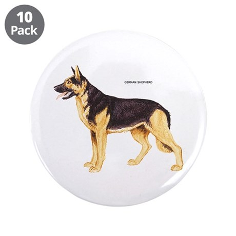 "German Shepherd Dog 3.5"" Button (10 pack)"