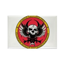 Zombie Response Unit red Rectangle Magnet (10 pack