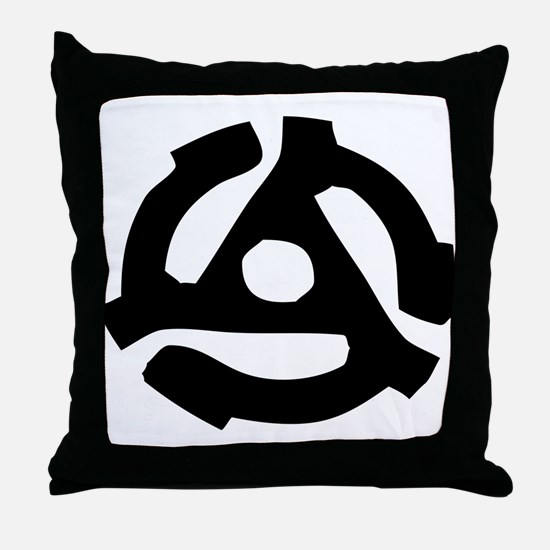 Record Spindle Adaptor Throw Pillow