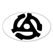 Record Spindle Adaptor Oval Decal