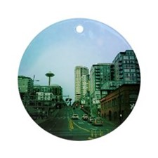 Seattle and Space Needle Ornament (Round)
