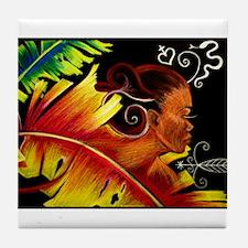 Fire Art by Nazaire Tile Coaster