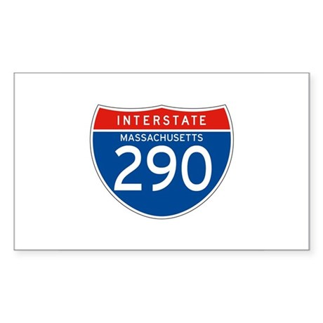 Interstate 290 - MA Rectangle Sticker