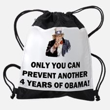 anti obama only you uncle_samf.png Drawstring Bag