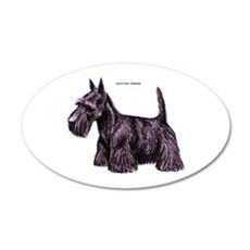 Scottish Terrier Dog 35x21 Oval Wall Decal