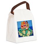 Mermaids Merbabes Beach Canvas Lunch Bag