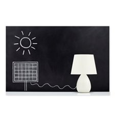 Lamp powered by solar pan Postcards (Package of 8)