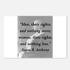 Anthony - Men Women Rights Postcards (Package of 8