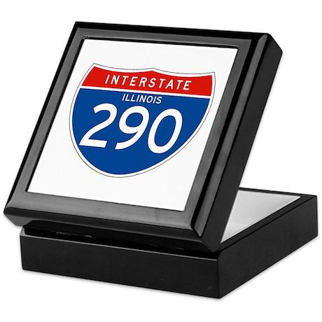 Interstate 290 - IL Keepsake Box
