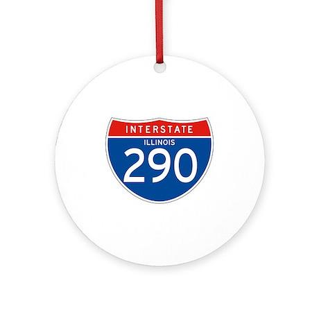 Interstate 290 - IL Ornament (Round)