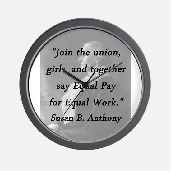 Anthony - Join the Union Wall Clock