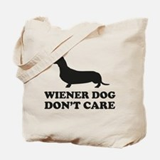 Wiener Dog Don't Care Tote Bag