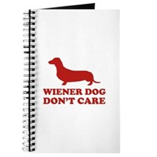 Wiener Dog Don't Care Journal