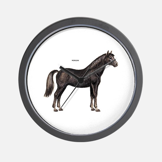 Morgan Horse Wall Clock
