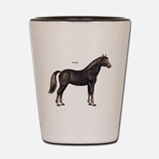 Morgan Horse Shot Glass