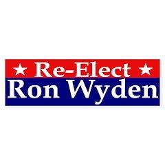 Re-Elect Ron Wyden Bumper Bumper Sticker