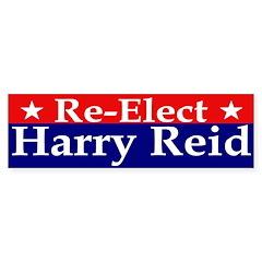 Re-Elect Harry Reid Bumper Bumper Sticker