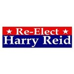 Re-Elect Harry Reid Bumper Sticker