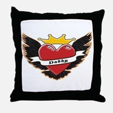 Daddy Heart Tattoo Throw Pillow