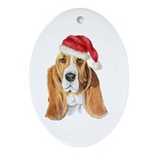 Basset Hound Oval Ornament