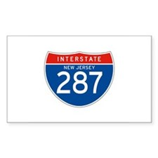 Interstate 287 - NJ Rectangle Decal