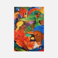 Earth, Wind,and Fire Art Rectangle Magnet