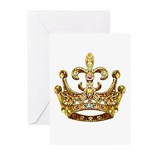 Fleur de lis Crown Jewels Greeting Cards (Package