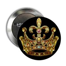 "Fleur de lis Crown Jewels 2.25"" Button (10 pack)"
