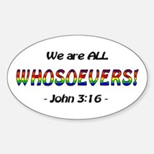 Whosoevers, All Oval Decal