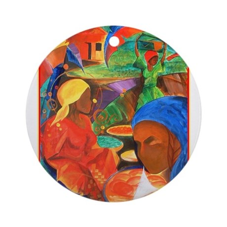 Earth, Wind,and Fire Art Ornament (Round)