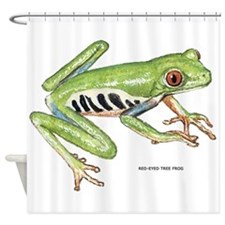 Red-Eyed Treefrog Shower Curtain