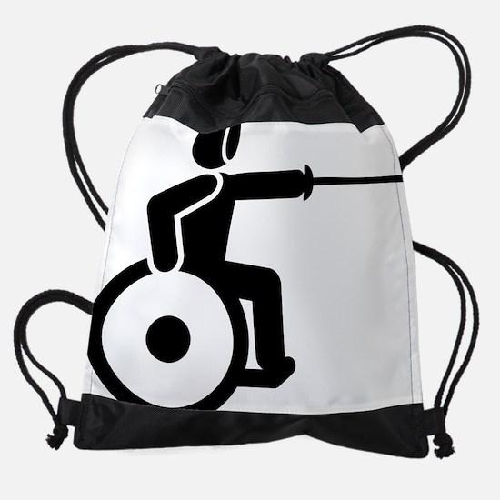 Wheelchair-Fencing-A.png Drawstring Bag