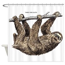 Three-Toed Sloth Shower Curtain