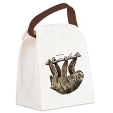 Three-Toed Sloth Canvas Lunch Bag
