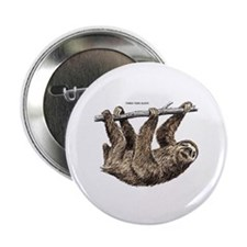 "Three-Toed Sloth 2.25"" Button (10 pack)"