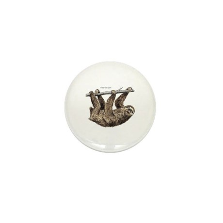 Three-Toed Sloth Mini Button (10 pack)