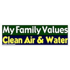 Clean Air and Water Bumper Bumper Sticker