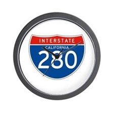 Interstate 280 - CA Wall Clock