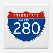 Interstate 280 - CA Tile Coaster