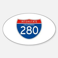 Interstate 280 - CA Oval Decal