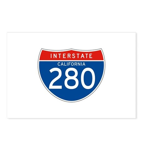Interstate 280 - CA Postcards (Package of 8)
