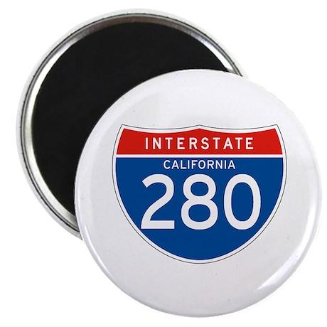 "Interstate 280 - CA 2.25"" Magnet (100 pack)"